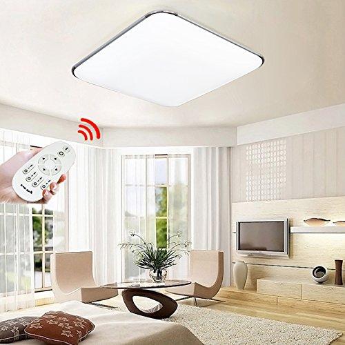 VINGO® 64W Dimmbar Deckenleuchte LED Flur Küche Wohnzimmer Deckenlampe 2700K-6500K + Fernbedienung