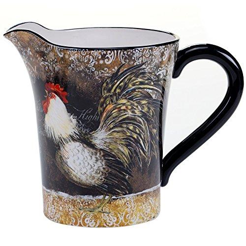 (Certified International 57482 Vintage Rooster Pitcher, 2.5 quart, Multicolor)