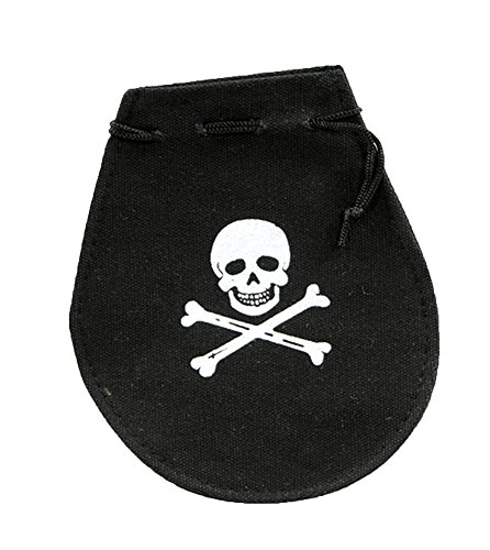 [Mini Skull & Crossbones Pirate Booty Party Favor Goody Bag] (Robber Adult Costumes)