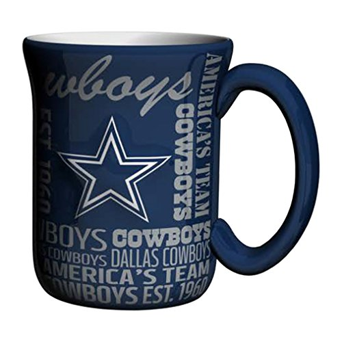 NFL Dallas Cowboys Sculpted Spirit Mug, 17-ounce, Blue