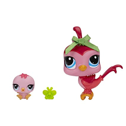 amazon com littlest pet shop bird and baby bird figure set toys