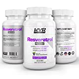 Cheap KYR Resveratrol Supplement Capsules – This antioxidant is 1200mg per Serving Natural Trans-Resveratrol Supplement for Anti-Aging, Heart Health, and Weight Loss – 60 200mg Veggie Capsules (1 Bottle)