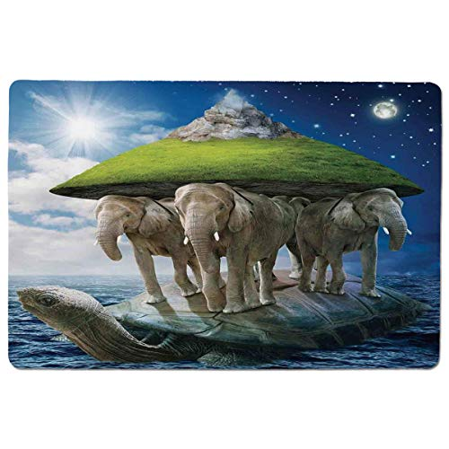 SCOCICI Mouse pad - Gaming Mouse pad - Turtle Carrying Elephants with The Earth on Their Backs Cosmic Professional Control Gaming Mouse Pad Locking Edge Game Mat 23.6x15.7 inch