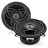 """Upgraded VX 5.25"""" Pair 2-Way Speaker - Powerful 120 Watts Peak 4 Ohms 30 Oz Magnet Structure 55-20KHz Frequency Response w/ 1"""" High Voice Coil and Poly-Mica Coated Woofer Cone - Lanzar VX520"""