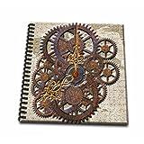 3dRose db_108102_2 Steam Punk Cog Wheels in Bronze-Memory Book, 12 by 12-Inch
