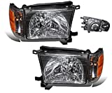 99 4runner headlight assembly - SPPC Headlights Black Assembly with Corner Light for Toyota 4 Runner - (Pair) Includes Driver Left and Passenger Right Side Replacement Headlamp