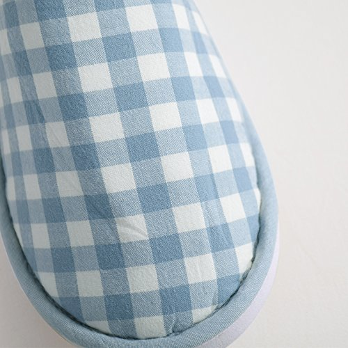 LéGèRes Plat Bout AntidéRapante Confort En Pantoufles KJ23XL D'IntéRieur Chaussures Lanker Gray Lavable Avec Ultra Semelle Deux Brown Paires Coton OxX4vRw
