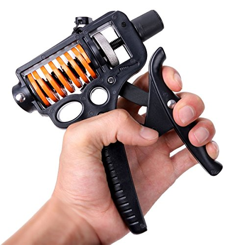 Hand Grip Strengthener Strength Trainer Adjustable Resistance Arm Hand Exerciser Non-slip Gripper for Athletes by Alissne by Alissne