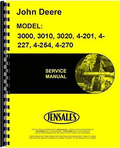 John Deere 3020 Tractor Service Manual (SN# ()