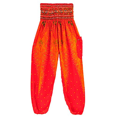 Caopixx Yoga Pants, Women Plus Size Peacock Print Workout Cl