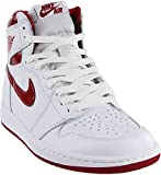 Jordan Air 1 Retro High OG Men's Shoes White/Varsity Red 555088-103 (11.5 D(M) US)