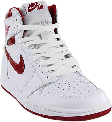 Jordan Air 1 Retro High OG Men's Shoes White/Varsity Red 555088-103 (11.5 D(M) (White Retro 1)