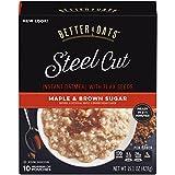 Better Oats Oat Revolution! Instant Oatmeal ~ Steel Cut Oats Maple & Brown Sugar Flavor ~ 10 Pouches per 15.1 oz Box
