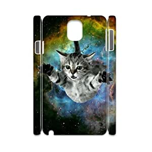 JFLIFE Space Cat Flying Phone Case for samsung galaxy note3 3D Shell Phone [Pattern-1]