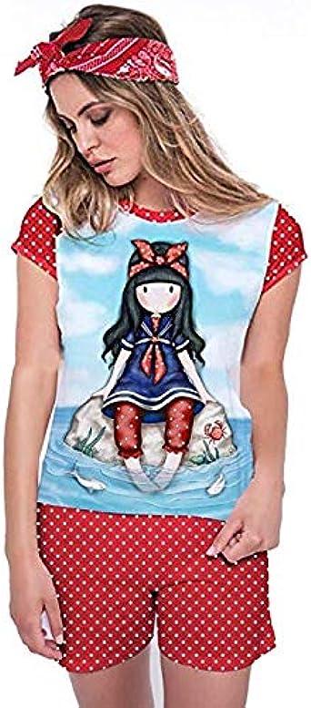 Pijama Mujer Verano Gorjuss - Little Fishes, S