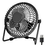 PEYOU USB Desk Fan, 360° Rotating Desktop Table Mini Fan with Metal Shell