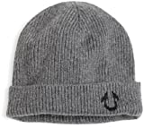 True Religion Men's Solid Watch Cap, Grey, One Size