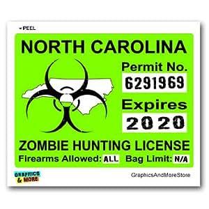 North carolina nc zombie hunting license for Nc hunting and fishing license