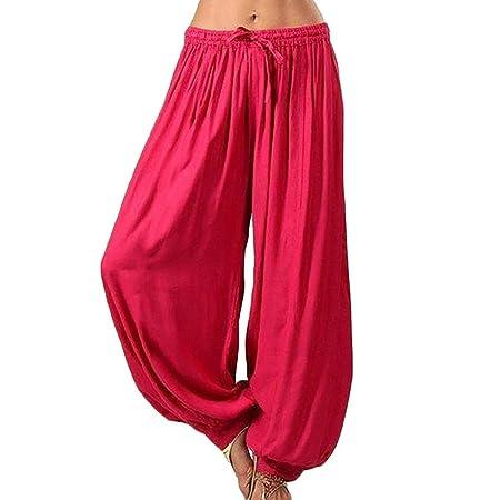 Ohyoulive Harem Pants - Women Casual Baggy Boho Gypsy Yoga ...