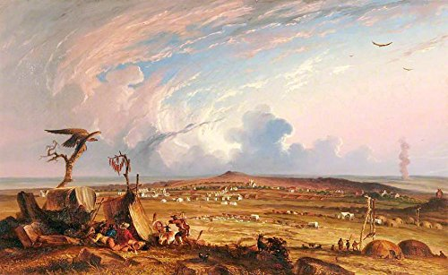 Bloemfontein, South Africa by Thomas Baines 30'' x 20'' Oil on Canvas Art Reproduction Painting by Cutler Miles