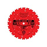 Freud LU87R010 10-Inch 24 Tooth FTG Thin Kerf Ripping Saw Blade with 5/8-Inch Arbor and PermaShield Coating