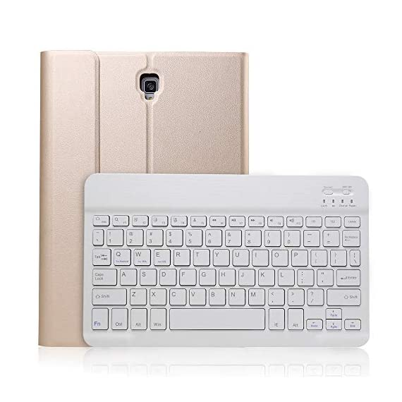 Keyboard Case for for Samsung Galaxy Tab S4 T830/T835 10.5inch Tablet with Detachable Wireless Bluetooth Keyboard +Leather Case Cover (Gold) - 514QWSDbM9L - Keyboard Case for for Samsung Galaxy Tab S4 T830/T835 10.5inch Tablet with Detachable Wireless Bluetooth Keyboard +Leather Case Cover (Gold)