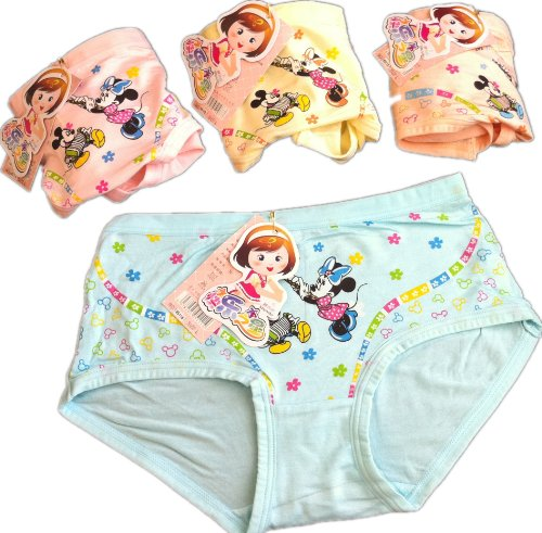 kulala little girls lovely Minnie regenerated cellulose underwear 2 pack (1-3T) from kulala