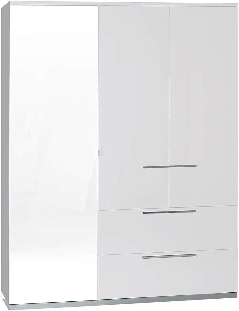 LIGNEUBLE - Portador lacado blanco para dormitorio moderno: el armario de 3 puertas: Amazon.es: Hogar