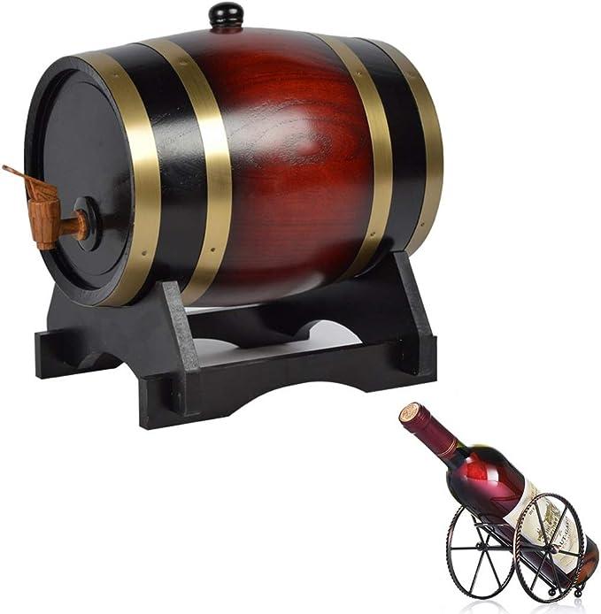 NACK Oak Barrel 5L Cubo de Almacenamiento de Whisky de ...
