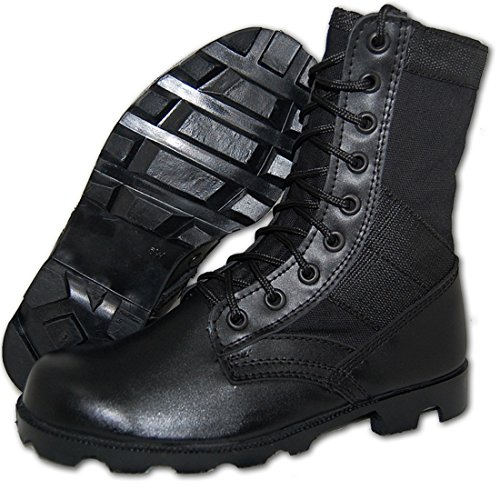 Costume Stores Baton Rouge (Combat Jungle Boot Leather-Canvas Black, Men (11D)