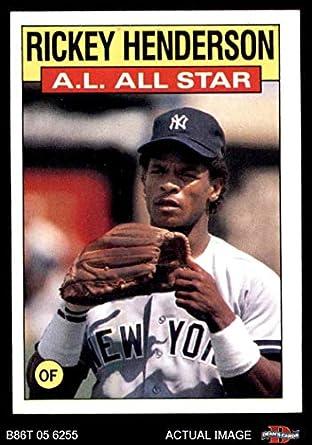 Amazoncom 1986 Topps 716 All Star Rickey Henderson New