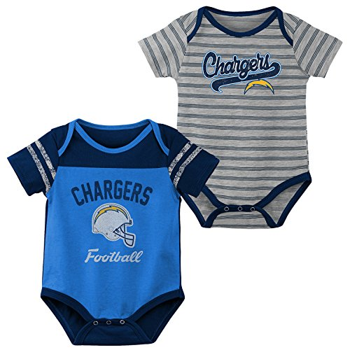 - Outerstuff NFL NFL LA Chargers Newborn & Infant Dual-Action 2 Piece Bodysuit Set Air Force Blue, 18 Months