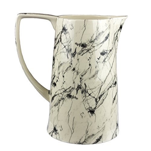 Sagebrook Home 12386-01 Decorative Pitcher, Beige / Black Ceramic, 10 x 7 x 11 Inches