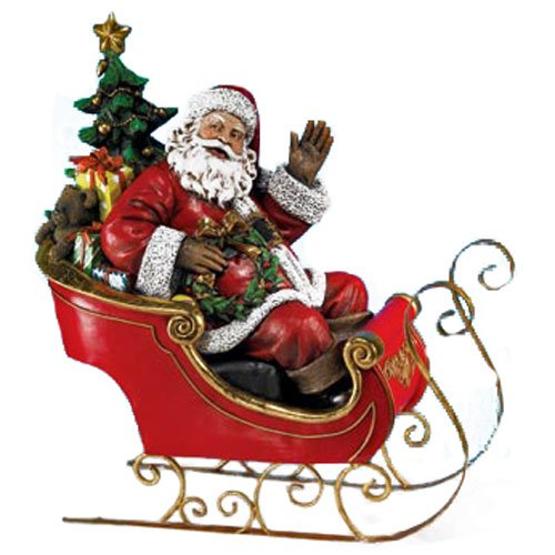 Napco Santa on Sleigh Decorative Item by Napco