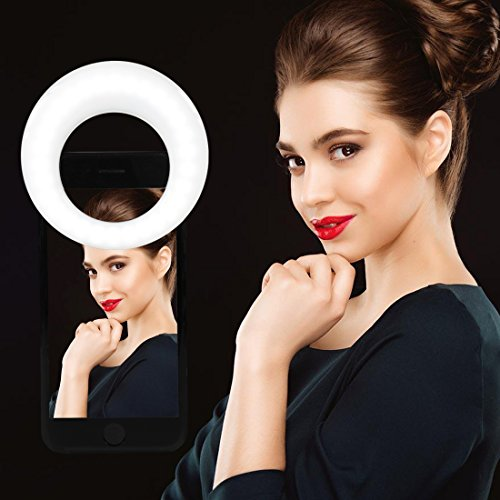 Clip On Ring Light for Camera  Selfie LED Camera Light with