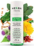 DETOX TEA HerbaFrame 14-Day TeaTox (28 bags) | Premium Weight Loss Tea | Herbal Body Cleanse | Healthy Slimming Tea | Fat Burner | Energizing Appetite Control | Weight Management for Women and Men