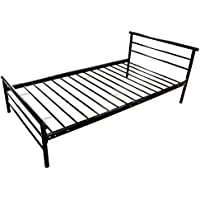 UHOM Twin Size Bedroom Metal Bed Frame Platform Headboards 4 Leg Mattress Foundation
