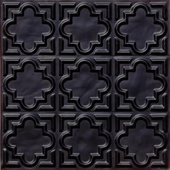 Amazon Com 142 Faux Ceiling Tile Glue Up 24x24 Black