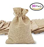 30Pcs Burlap Bags with Drawstring, Gift Bag Jute Hessian Packing Storage Linen Jewelry Pouches Sacks  for Wedding Party Shower Birthday Christmas Jewelery DIY Craft, 5.5 x 4.0 Inch