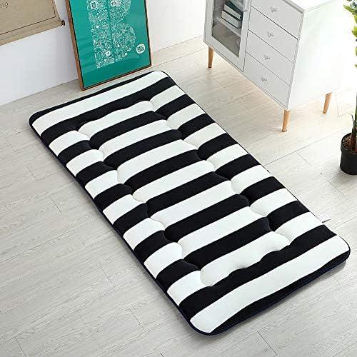 畳 マットレス プロテクター 学生寮 パッドを睡眠 布団, とろみ 折りたたみ マットレス トッパー ベッドのマット パッド-L 80x200x6cm