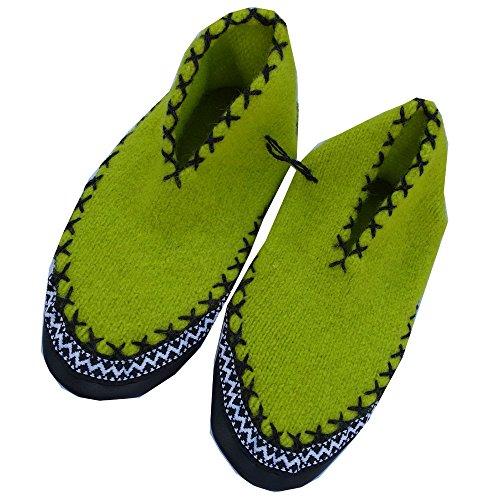 Heratex - Walk Hüttenschuhe Almleben - Kinder Neon-Grün