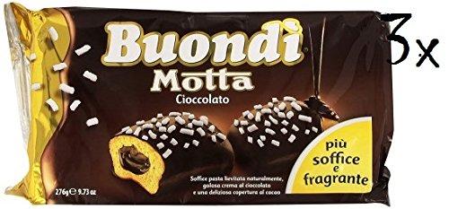 18 X Motta buondì buondi 3 x 6 cerrojo Brioches para tarta con chocolate Galletas 828 g: Amazon.es: Alimentación y bebidas