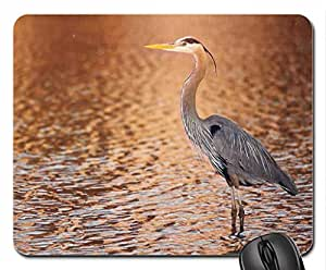 Gran Horned Garza Mouse Pad, Mousepad (Birds Mouse Pad)
