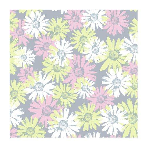 (York Wallcoverings BT2737SMP Daisy Camo 8 X 10 Wallpaper Memo Sample, Platinum Silver/Cotton Candy Pink/Celery Green)
