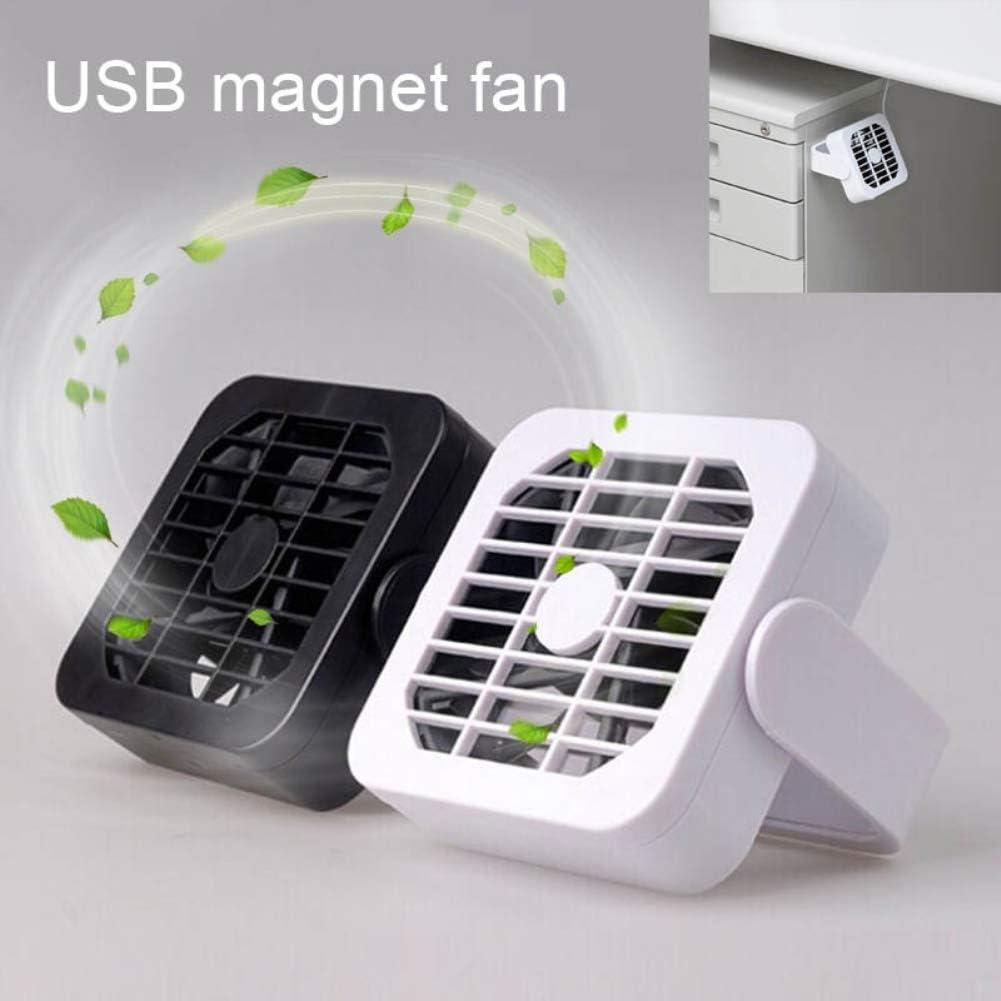 Black Heaven2017 Ultra-Quiet Mini 360/° Rotating Flexible Radiator Magnet Fan USB Gadget Portable