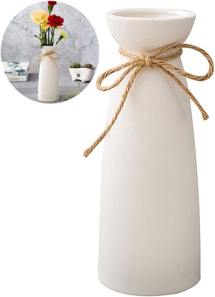 WEIDILIDU White Ceramic Vase Modern Home Decoration Porcelain Vase Vase Matte Design (weidilidu-735 White)