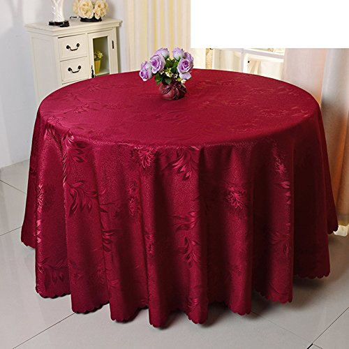 Chang Phoenix flowers red cloth/Purple Hotel tablecloth/Wedding round tablecloth/dining-room European-style coffee table cloth-E 140x140cm(55x55inch) (Phoenix Furniture Restaurant)
