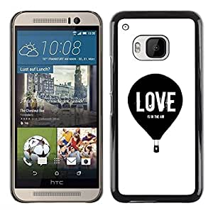"Pulsar Snap-on Series Teléfono Carcasa Funda Case Caso para HTC One ( M9 ) , Amor Hot Air Balloon Blanco Negro minimalista"""