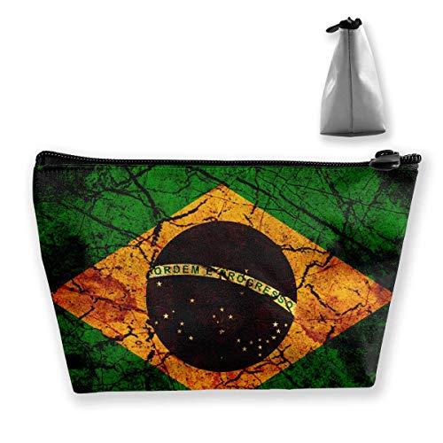 Bag Carry Vintage Travel Cosmetic Medium Makeup Pouch Case Brazil wqPIrw