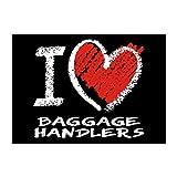 Idakoos I love Baggage Handlers chalk style - Occupations - Sticker Pack x4